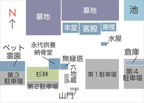 萬福寺境内図